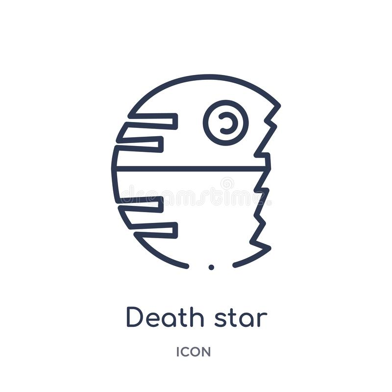 Linear death star icon from Astronomy outline collection. Thin line death star vector isolated on white background. death star vector illustration