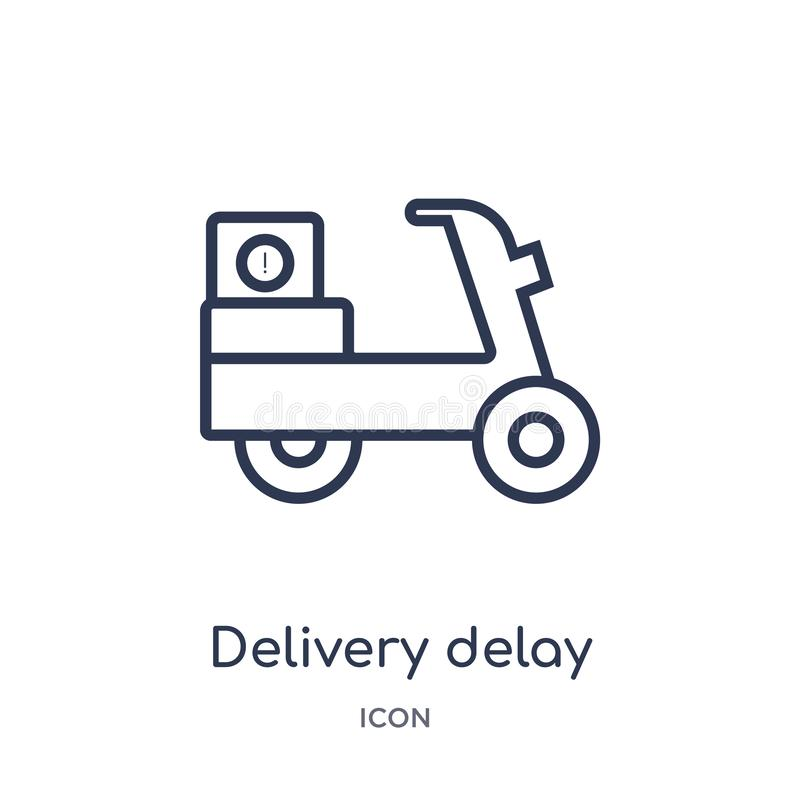 Linear delivery delay icon from Delivery and logistic outline collection. Thin line delivery delay vector isolated on white vector illustration