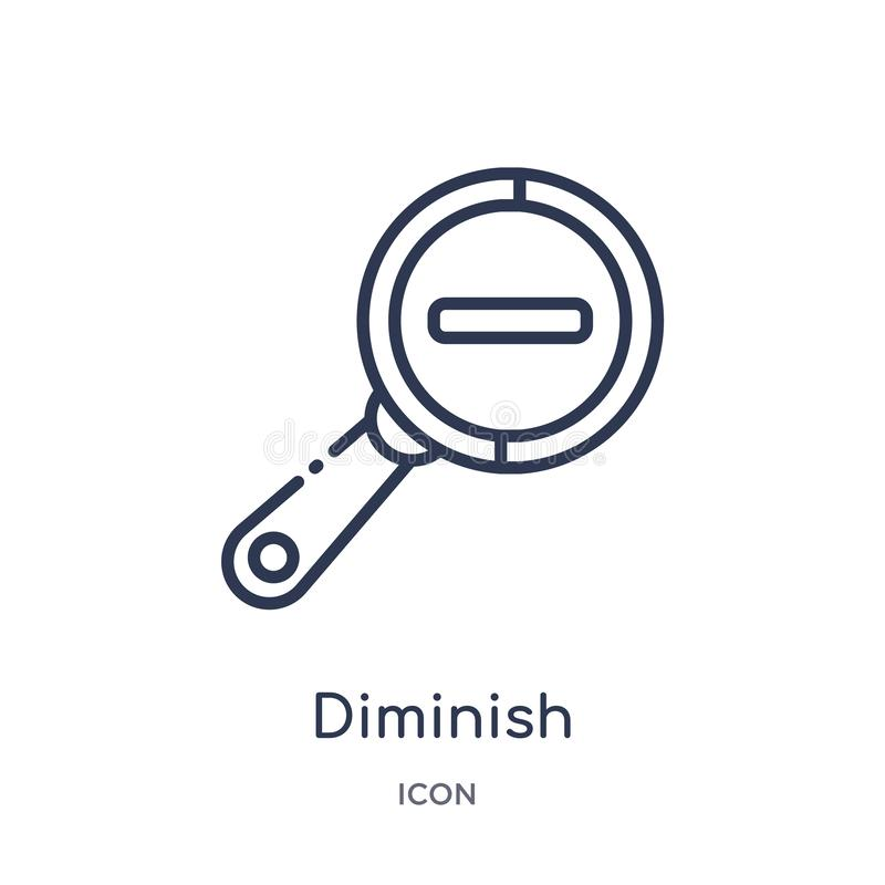Linear diminish icon from Miscellaneous outline collection. Thin line diminish icon isolated on white background. diminish trendy stock illustration