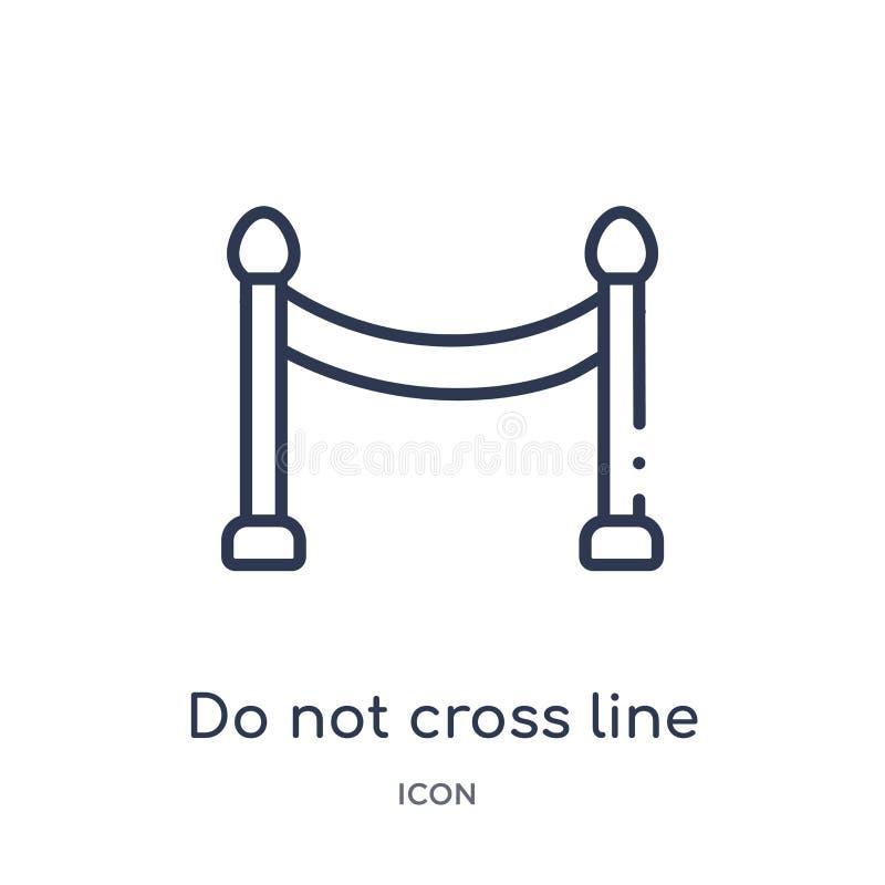 Linear do not cross line icon from Alert outline collection. Thin line do not cross line vector isolated on white background. do stock illustration