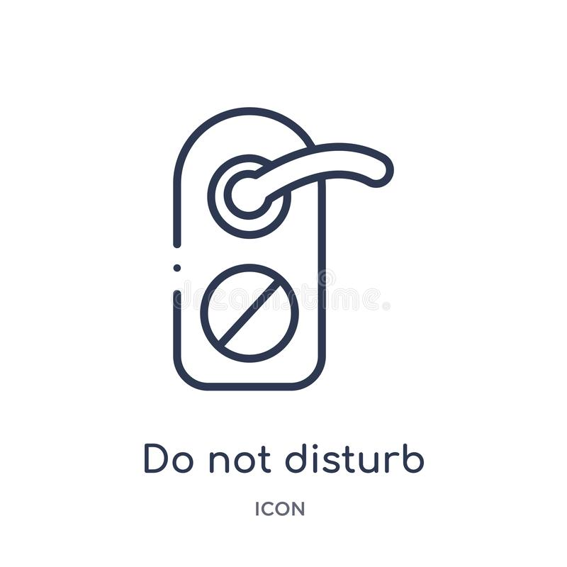 Linear do not disturb icon from Hotel outline collection. Thin line do not disturb icon isolated on white background. do not vector illustration
