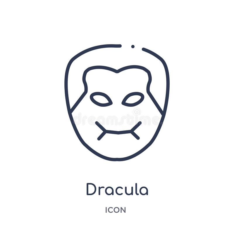 Linear dracula icon from Education outline collection. Thin line dracula vector isolated on white background. dracula trendy vector illustration
