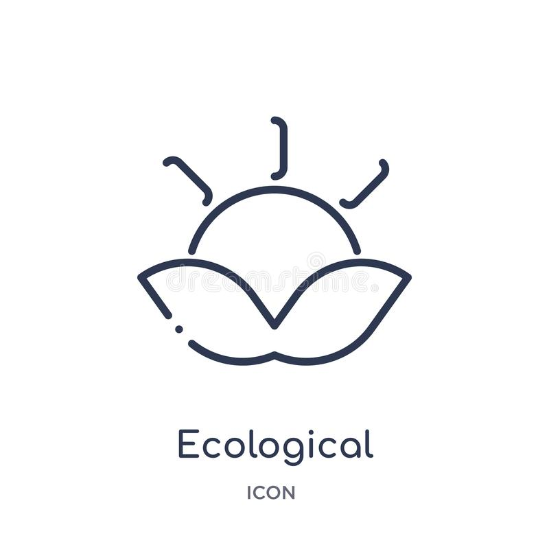 Linear ecological energy source icon from Ecology outline collection. Thin line ecological energy source vector isolated on white vector illustration