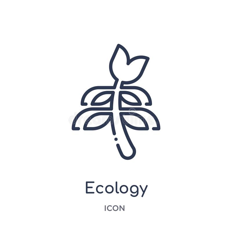 Linear ecology icon from Ecology outline collection. Thin line ecology vector isolated on white background. ecology trendy royalty free illustration