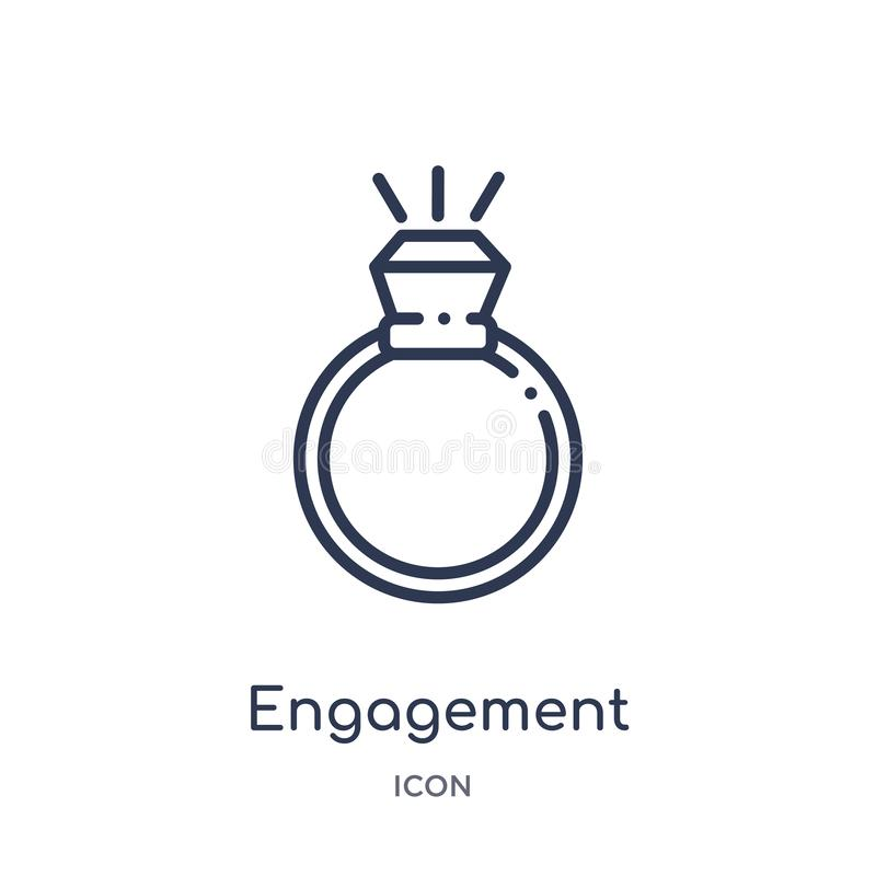 Linear engagement icon from Jewelry outline collection. Thin line engagement icon isolated on white background. engagement trendy royalty free illustration