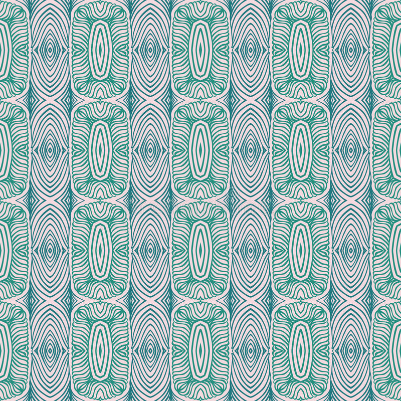 Linear Ethnnic Mexican Vector Seamless Pattern Royalty Free Stock Photo