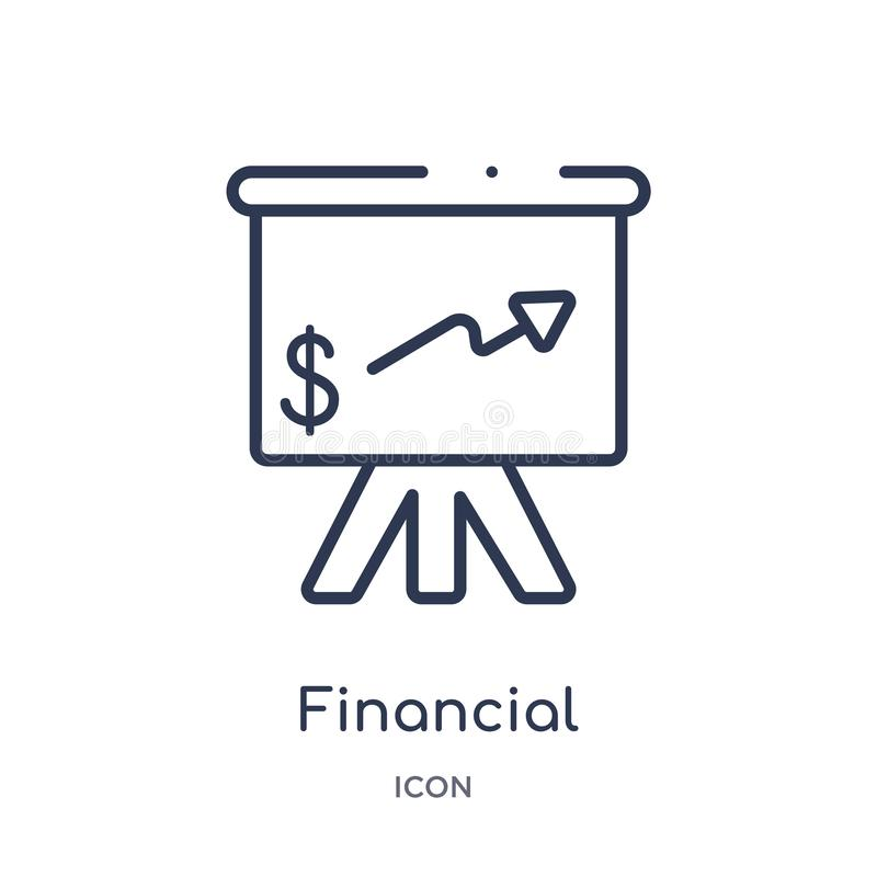 Linear financial presentation icon from Ecommerce and payment outline collection. Thin line financial presentation vector isolated vector illustration