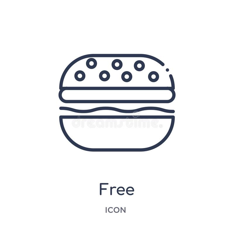 Linear free icon from Fastfood outline collection. Thin line free vector isolated on white background. free trendy illustration royalty free illustration