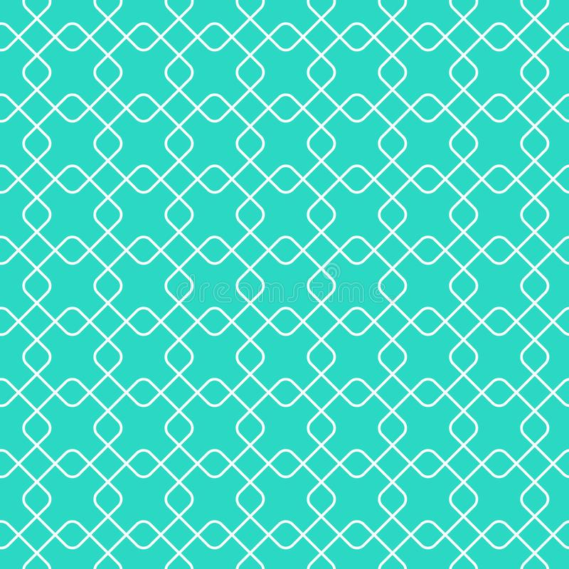 Linear geometric vector seamless pattern in flat modern style. Eps 10 royalty free illustration