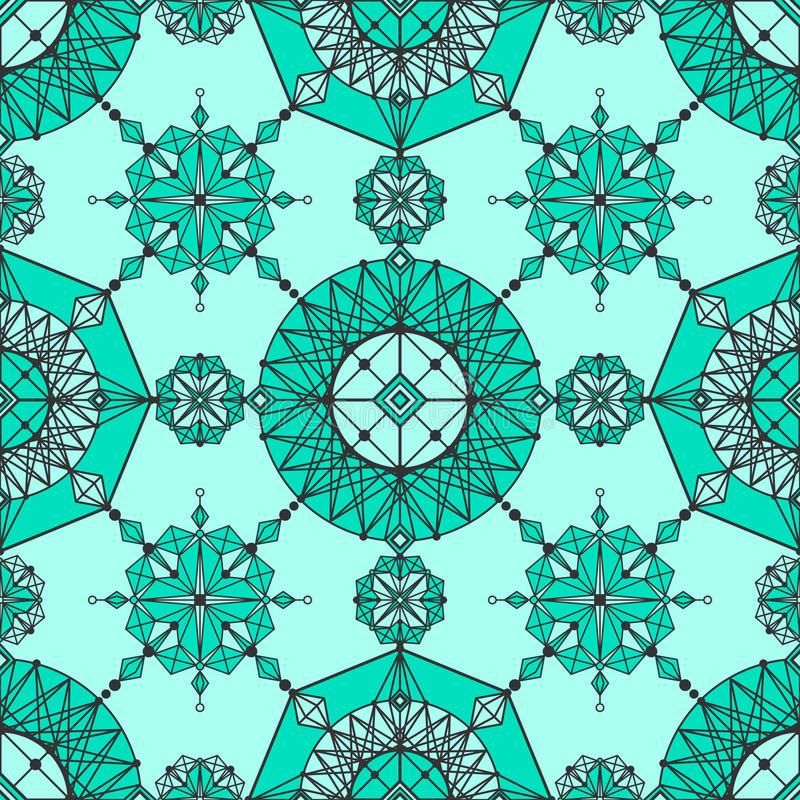 Linear geometric wallpaper royalty free illustration