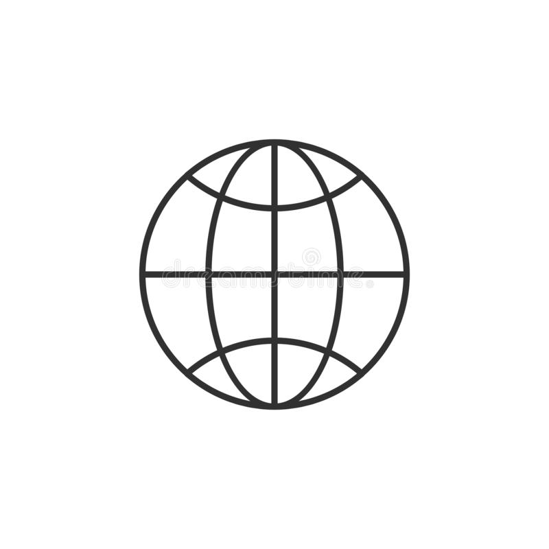 Linear globe vector. Trendy flat world globe outline ui sign design. Thin linear network graphic pictogram for web site, mobile. Application. Vector vector illustration