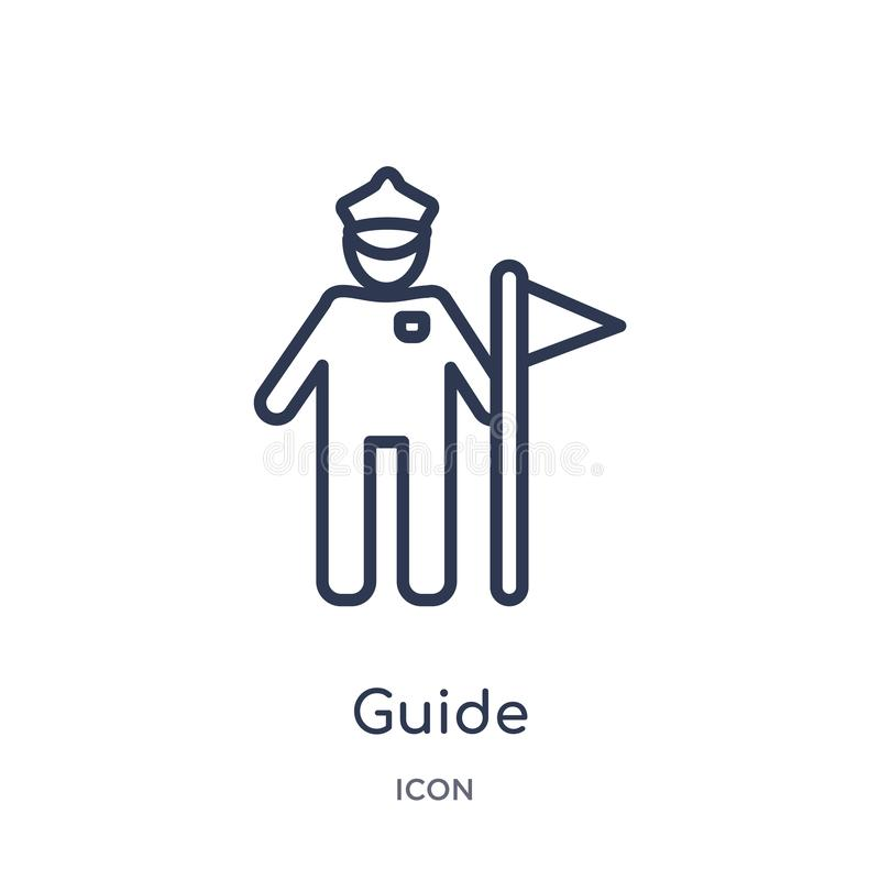 Linear guide icon from History outline collection. Thin line guide icon isolated on white background. guide trendy illustration royalty free illustration