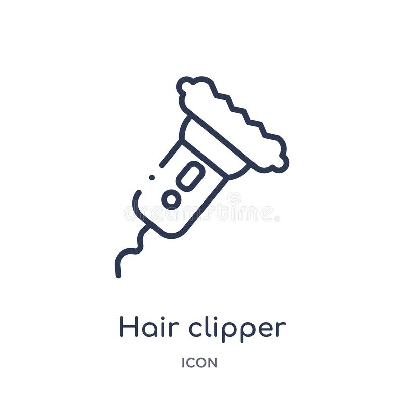 Linear hair clipper icon from Beauty outline collection. Thin line hair clipper vector isolated on white background. hair clipper stock illustration