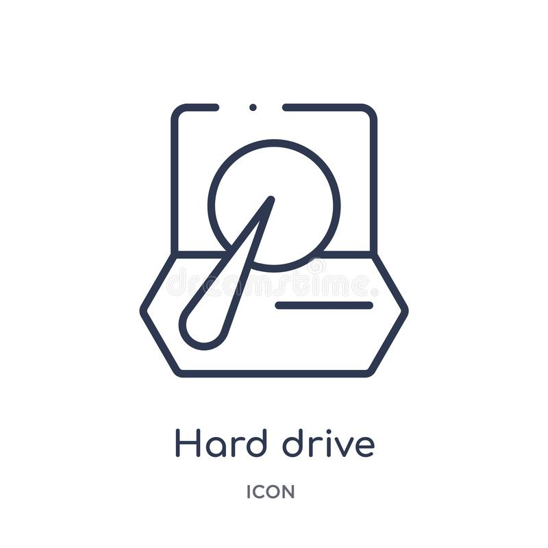 Linear hard drive icon from Artifical intelligence outline collection. Thin line hard drive vector isolated on white background. vector illustration