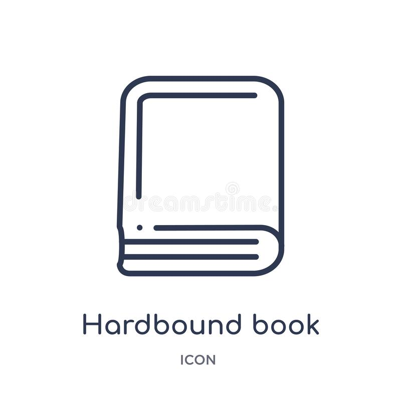 Linear hardbound book variant icon from Education outline collection. Thin line hardbound book variant icon isolated on white royalty free illustration
