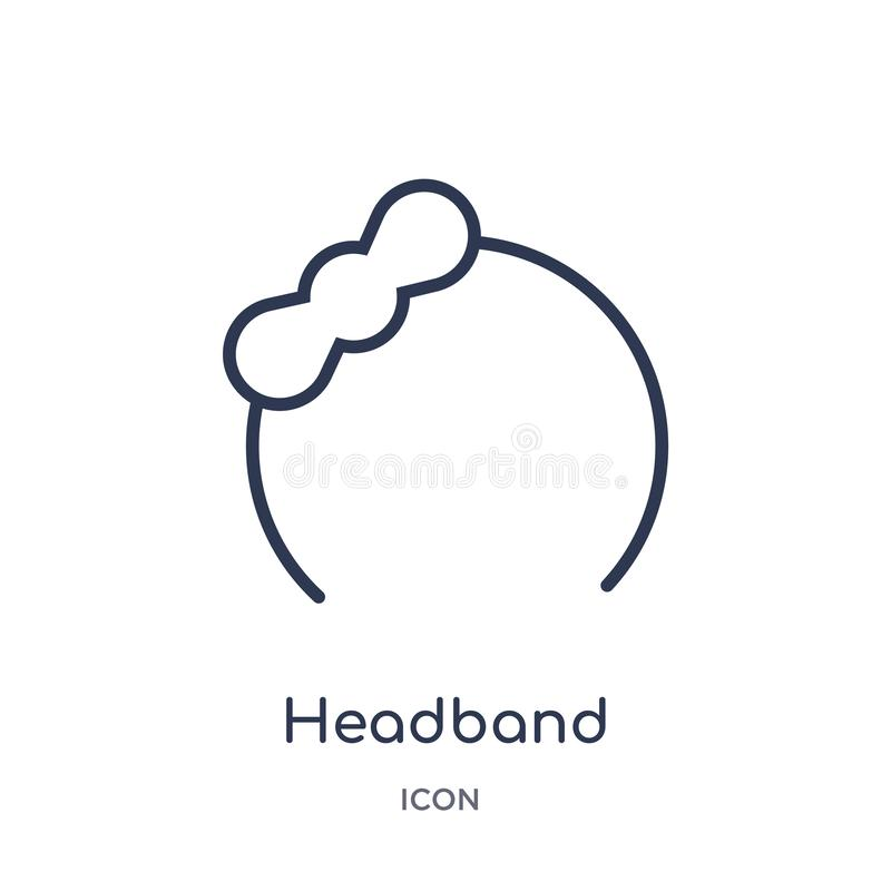 Linear headband icon from Birthday party outline collection. Thin line headband vector isolated on white background. headband vector illustration