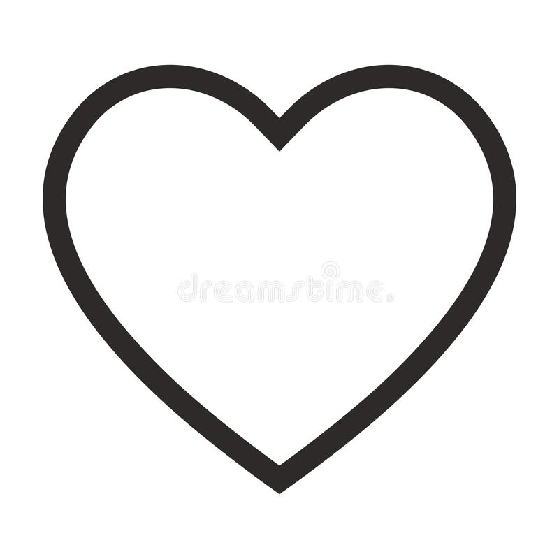 Linear heart icon, outline love icon vector illustration