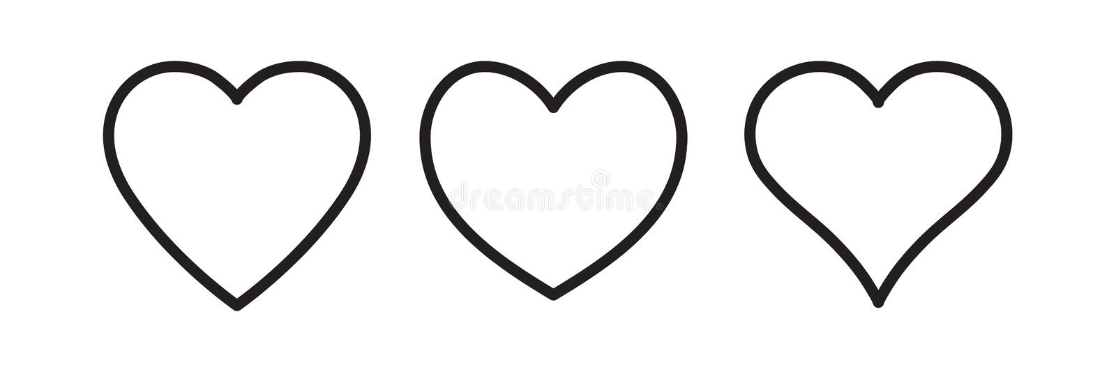 Linear heart icon royalty free illustration