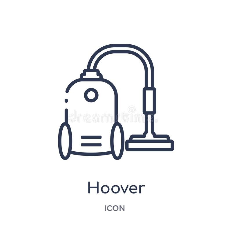 Linear hoover icon from Cleaning outline collection. Thin line hoover vector isolated on white background. hoover trendy. Illustration royalty free illustration