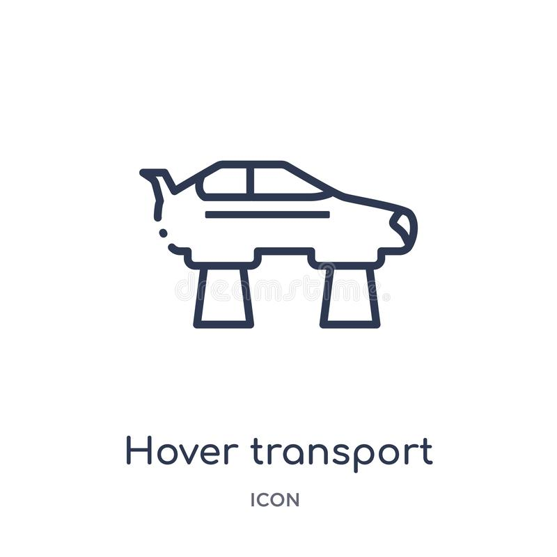 Linear hover transport icon from Artificial intellegence and future technology outline collection. Thin line hover transport stock illustration