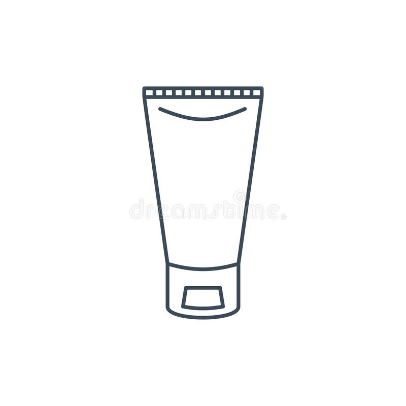 The linear icon of a tube of cream vector illustration