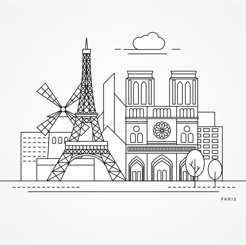 Paris France royalty free illustration