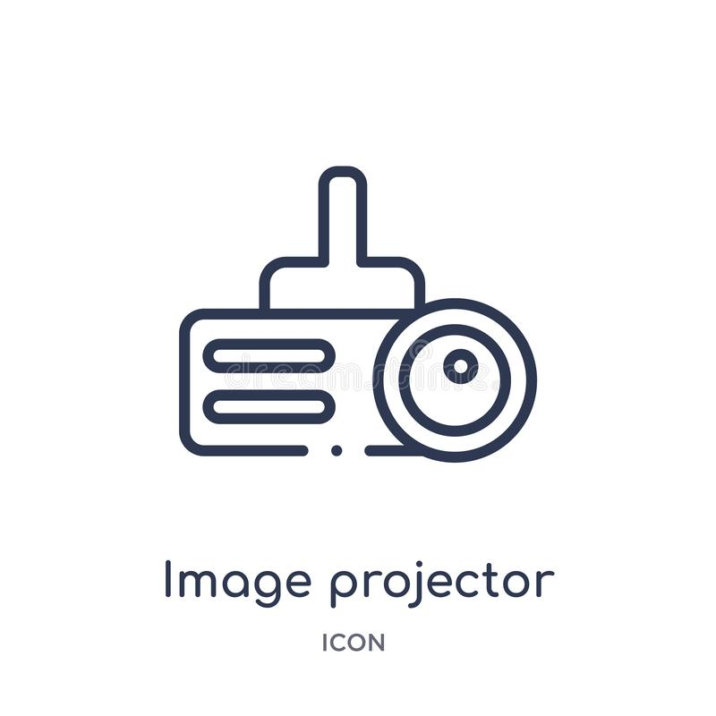 Linear image projector icon from Cinema outline collection. Thin line image projector vector isolated on white background. image stock illustration