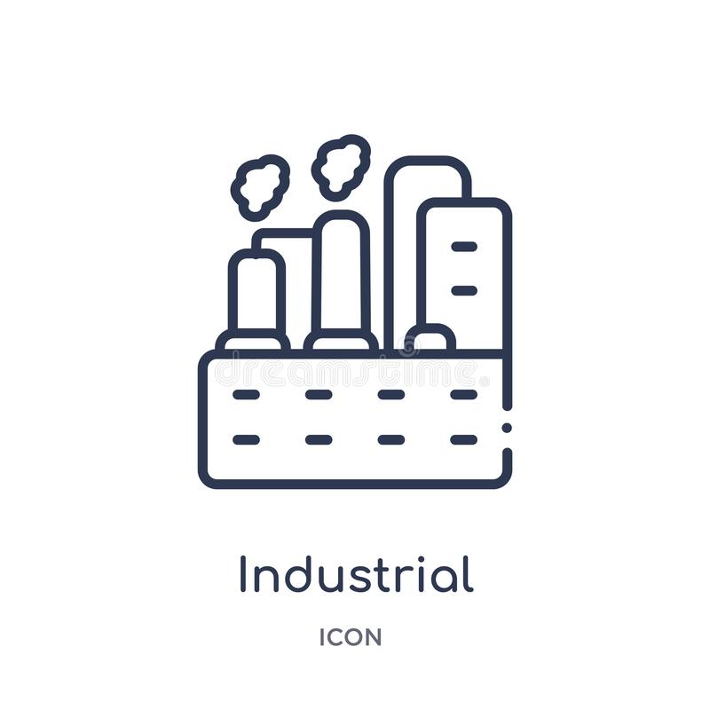 Linear industrial engineer icon from Industry outline collection. Thin line industrial engineer icon isolated on white background royalty free illustration