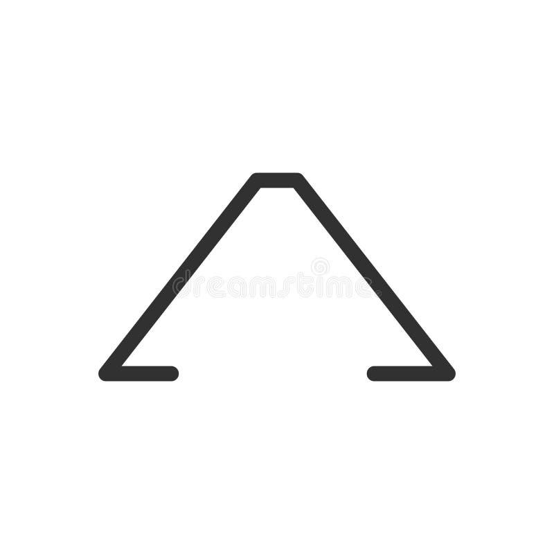 Linear isométrico do estilo do minimalismo um logotipo da letra, para o negócio ilustração do vetor isolada no backgroound branco ilustração royalty free