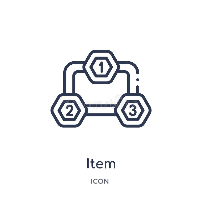Linear item interconnections icon from Business outline collection. Thin line item interconnections icon isolated on white vector illustration