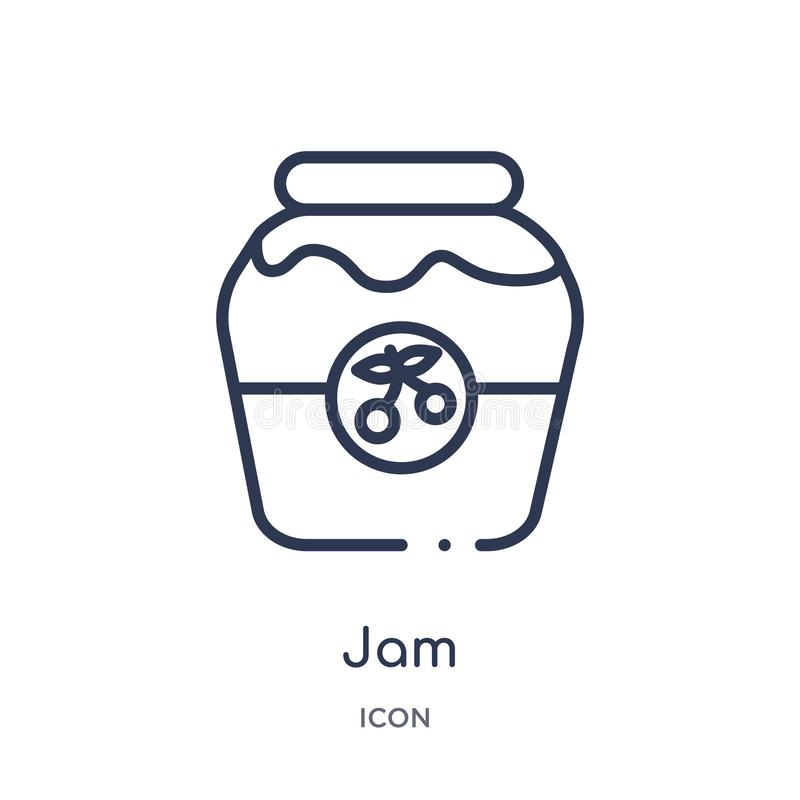 Linear jam icon from Autumn outline collection. Thin line jam vector isolated on white background. jam trendy illustration royalty free illustration