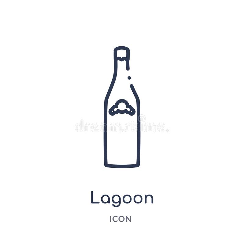 Linear lagoon icon from Drinks outline collection. Thin line lagoon vector isolated on white background. lagoon trendy. Illustration vector illustration
