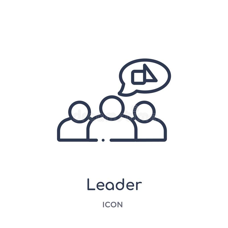 Linear leader icon from Geometry outline collection. Thin line leader icon isolated on white background. leader trendy vector illustration