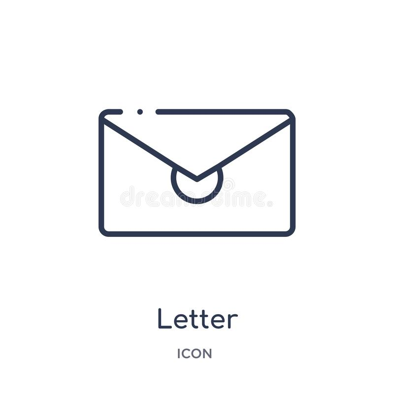 Linear letter icon from Education outline collection. Thin line letter vector isolated on white background. letter trendy royalty free illustration