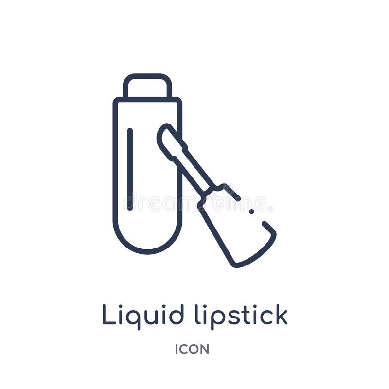 Linear liquid lipstick icon from Beauty outline collection. Thin line liquid lipstick vector isolated on white background. liquid vector illustration
