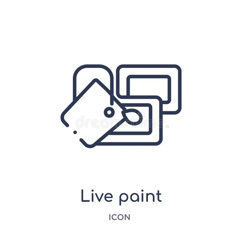 Linear live paint icon from General outline collection. Thin line live paint icon isolated on white background. live paint trendy stock illustration