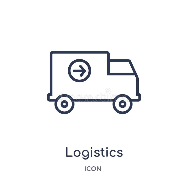 Linear logistics icon from Delivery and logistic outline collection. Thin line logistics vector isolated on white background. Logistics trendy illustration vector illustration