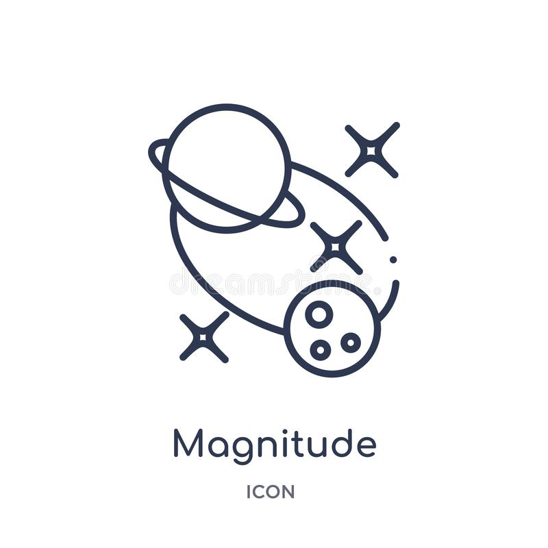 Linear magnitude icon from Astronomy outline collection. Thin line magnitude vector isolated on white background. magnitude trendy vector illustration