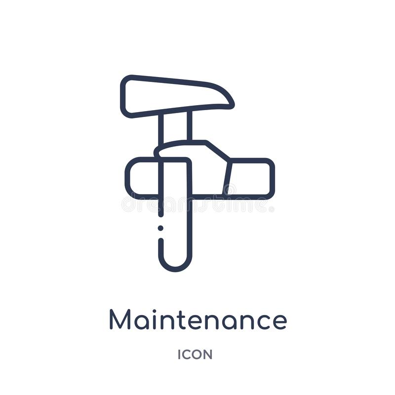 Linear maintenance icon from Industry outline collection. Thin line maintenance icon isolated on white background. maintenance. Trendy illustration royalty free illustration