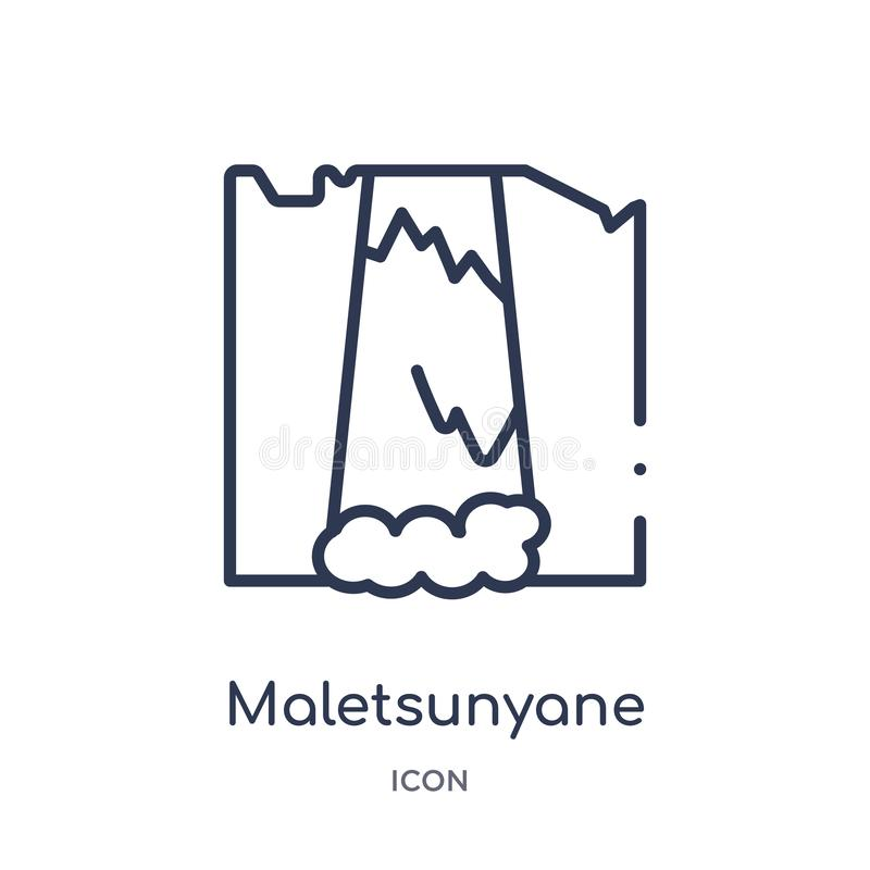 Linear maletsunyane icon from Culture outline collection. Thin line maletsunyane vector isolated on white background. maletsunyane stock illustration