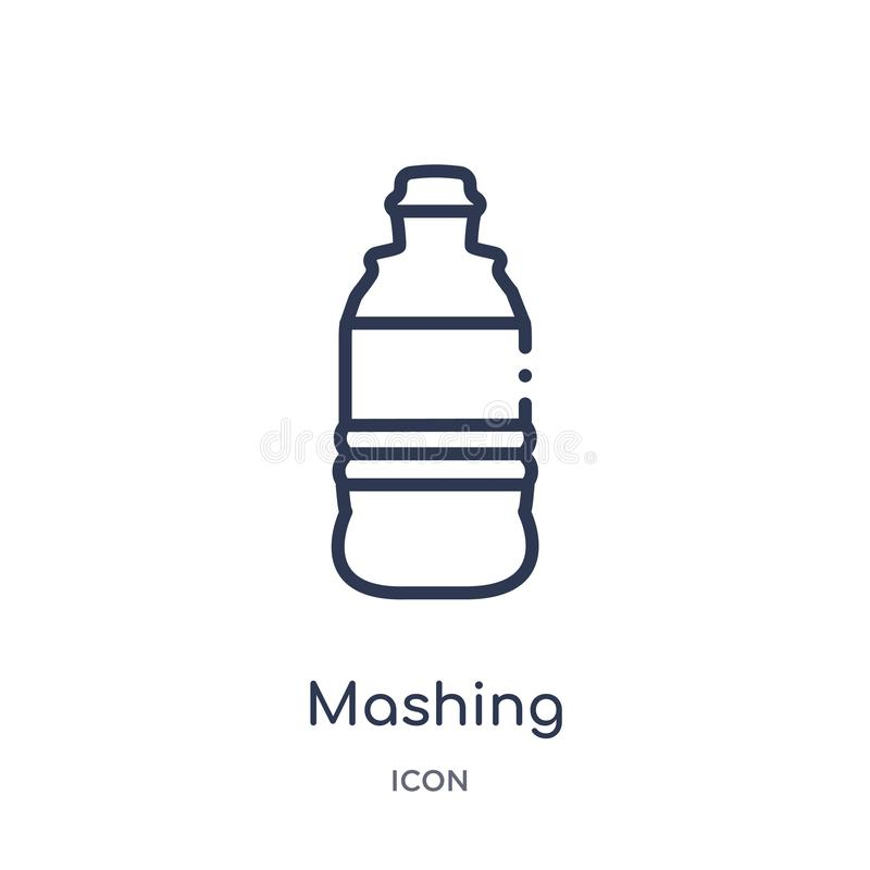 Linear mashing icon from Drinks outline collection. Thin line mashing vector isolated on white background. mashing trendy stock illustration