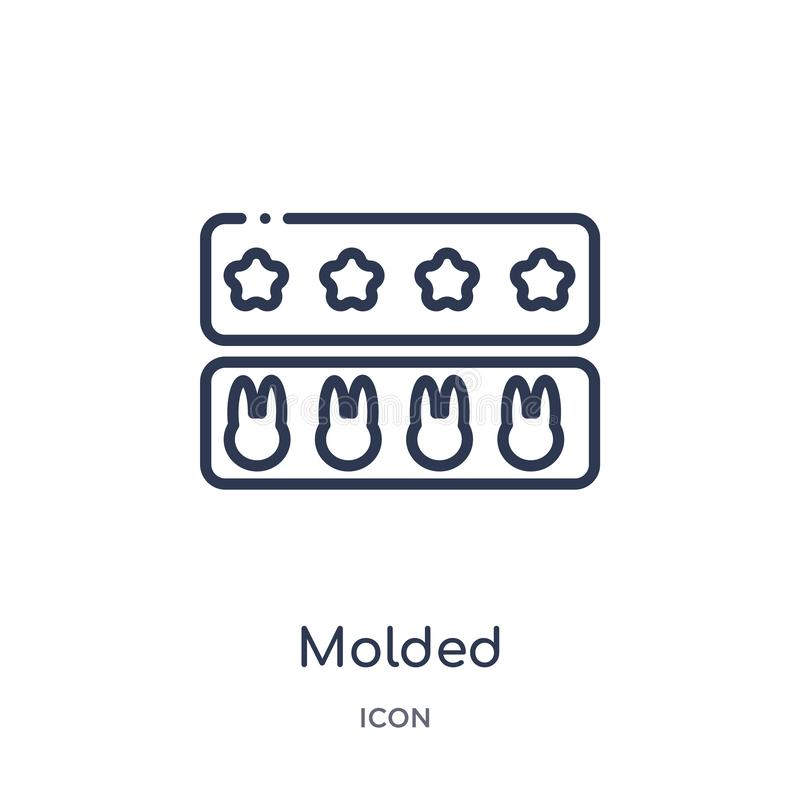 Linear molded icon from Kitchen outline collection. Thin line molded icon isolated on white background. molded trendy illustration royalty free illustration