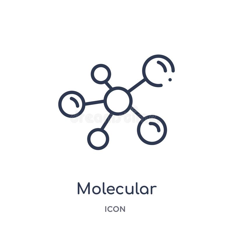Linear molecular configuration icon from Medical outline collection. Thin line molecular configuration icon isolated on white vector illustration