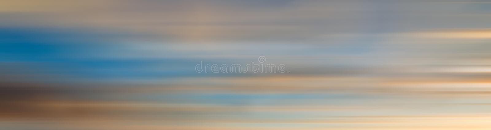 Linear motion blur effect of colorful sunset stock image