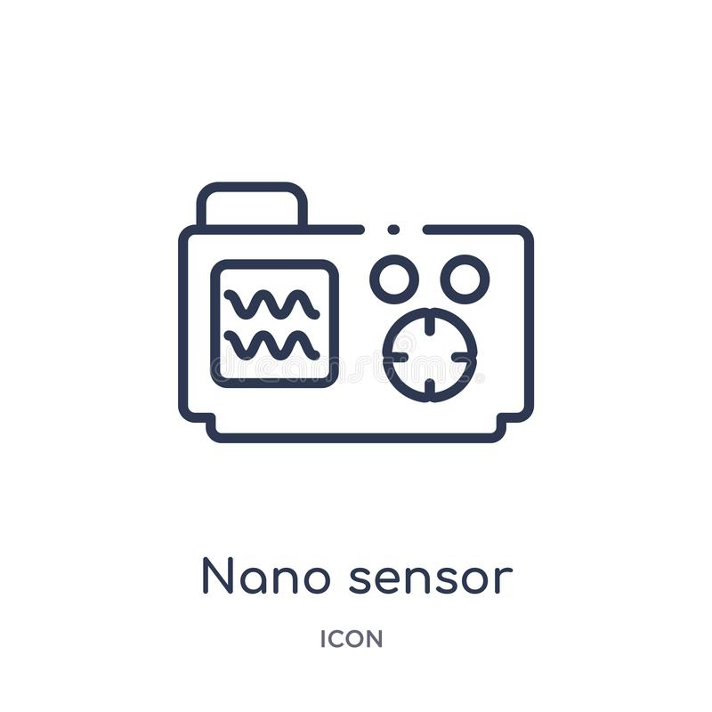Linear nano sensor icon from Artificial intellegence and future technology outline collection. Thin line nano sensor vector stock illustration