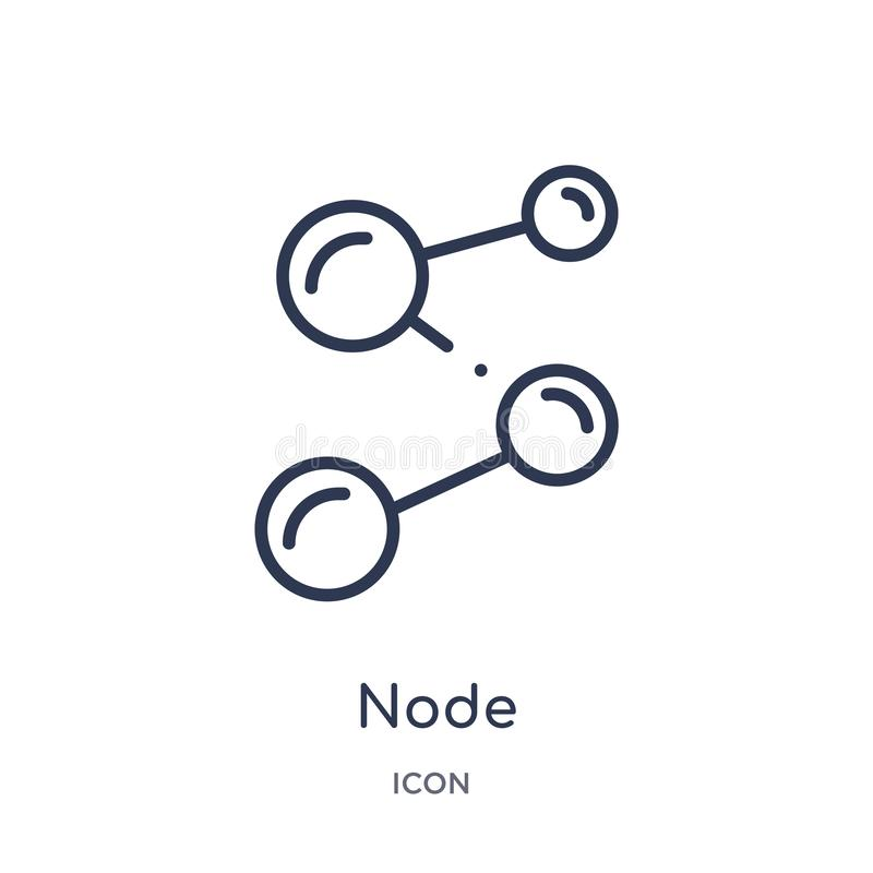 Linear node icon from Cryptocurrency economy and finance outline collection. Thin line node vector isolated on white background. royalty free illustration