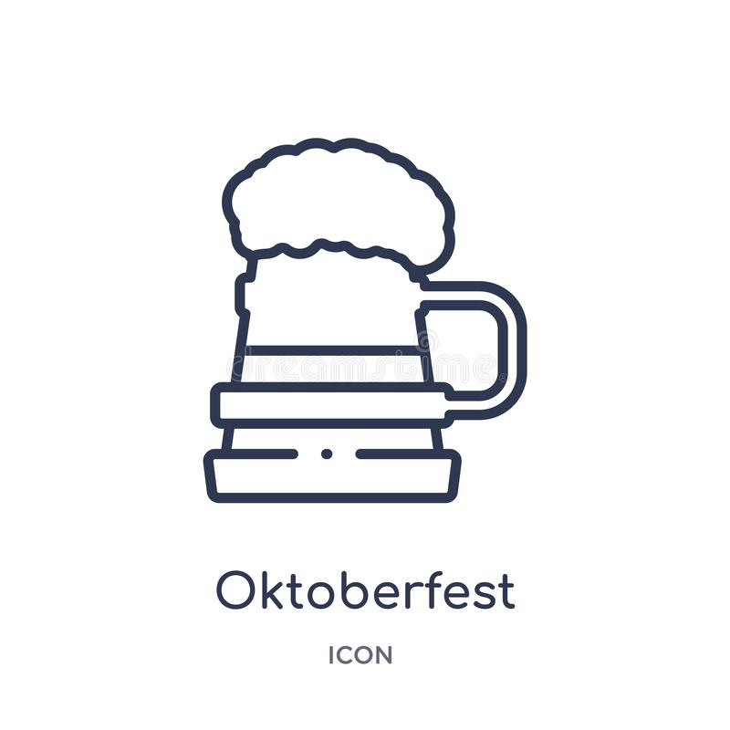 Linear oktoberfest icon from Alcohol outline collection. Thin line oktoberfest vector isolated on white background. oktoberfest royalty free illustration