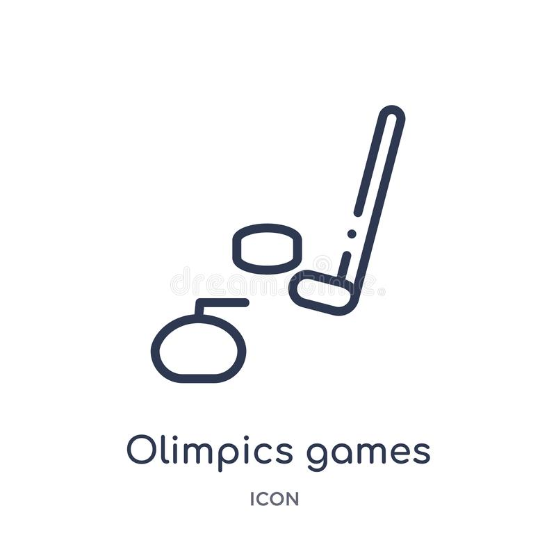 Linear olimpics games icon from Health outline collection. Thin line olimpics games icon isolated on white background. olimpics. Games trendy illustration stock illustration