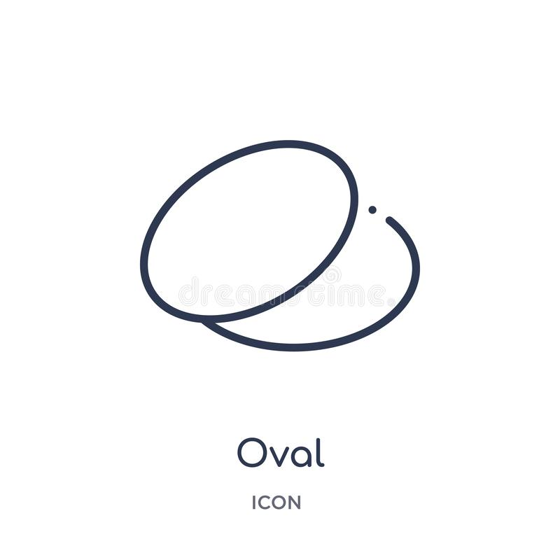 Linear oval icon from Geometric figure outline collection. Thin line oval icon isolated on white background. oval trendy vector illustration