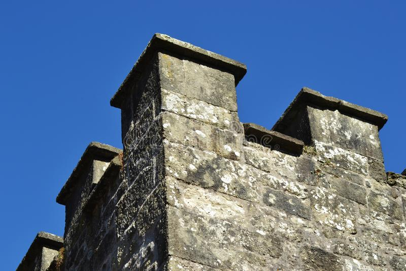 Linear Perspective shot of a castle royalty free stock image